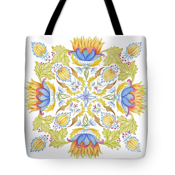 Lotus Mandala Tote Bag