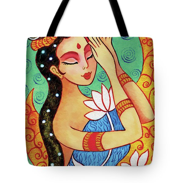 Lotus Meditation Tote Bag