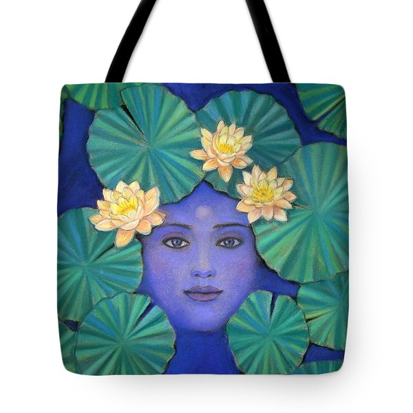 Tote Bag featuring the painting Lotus Nature by Sue Halstenberg
