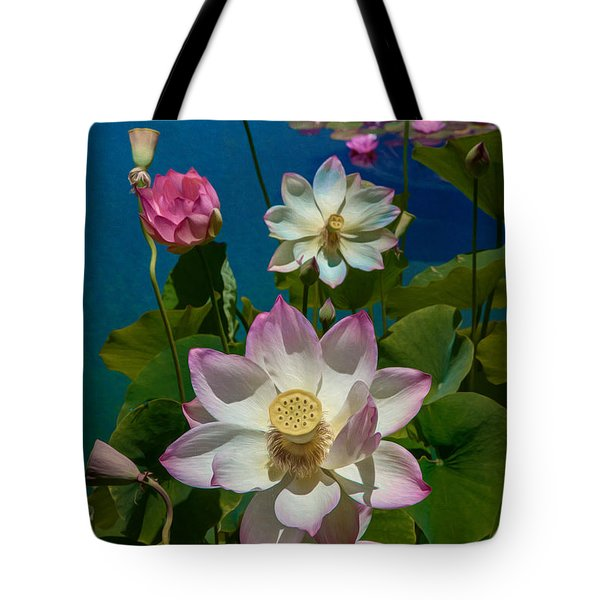 Lotus Pool Tote Bag