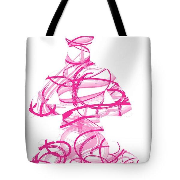 Yoga Pose Asana Lotus Pose Tote Bag