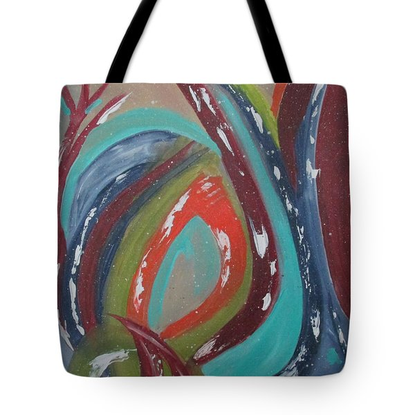 Tote Bag featuring the painting Lotus Reborn by Sharyn Winters