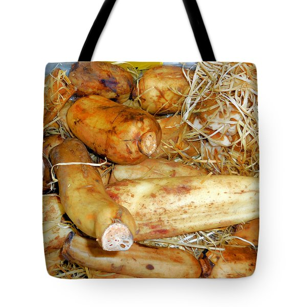Lotus Root In Market Tote Bag