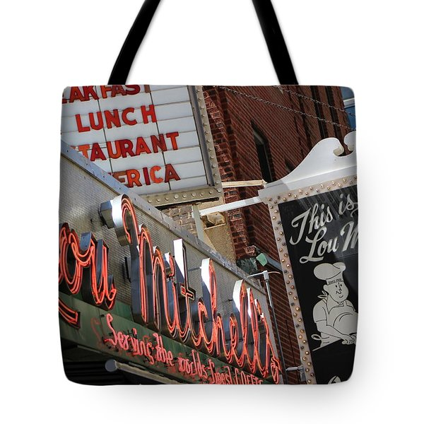 Lou Mitchells Restaurant And Bakery Chicago Tote Bag