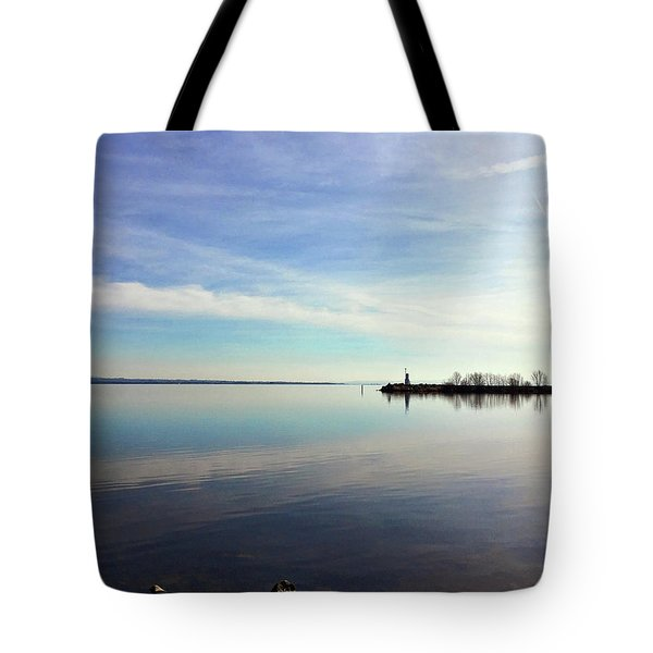 Tote Bag featuring the photograph Lough Neagh At Ballyronan by Colin Clarke