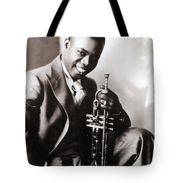 Louis Armstrong, American Jazz Musician Tote Bag