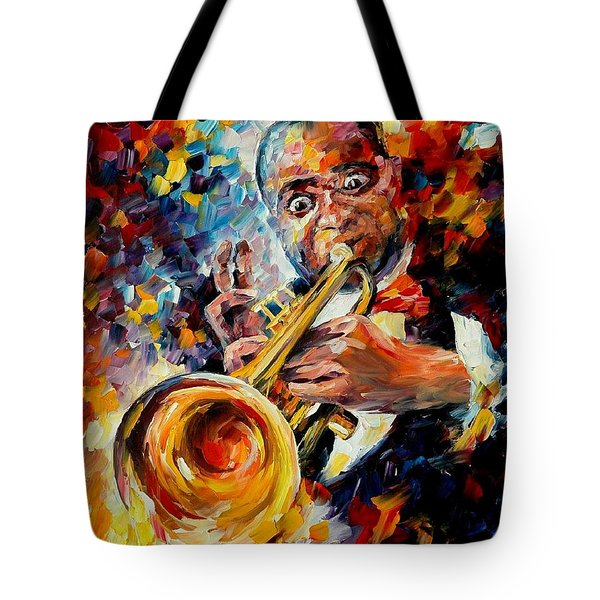 Louis Armstrong Tote Bag by Leonid Afremov