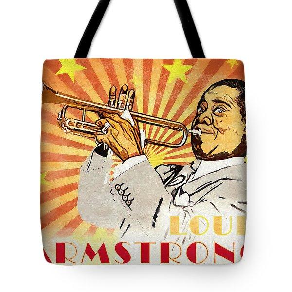 Louis Armstrong Pop Art Tote Bag