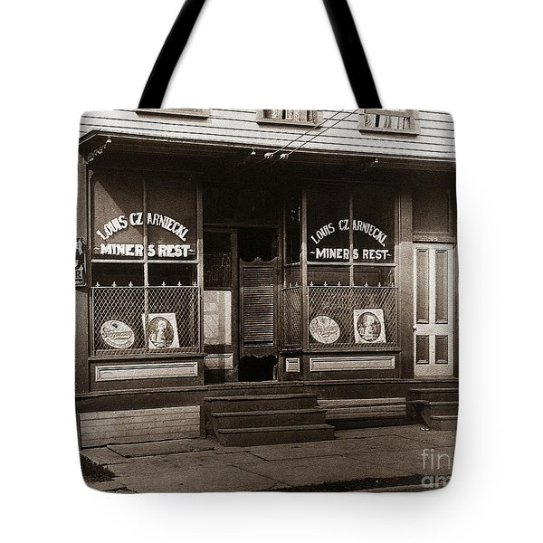 Louis Czarniecki Miners Rest 209 George Ave Parsons Pennsylvania Tote Bag