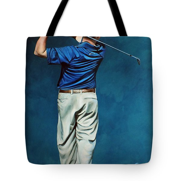 Louis Osthuizen Open Champion 2010 Tote Bag by Mark Robinson