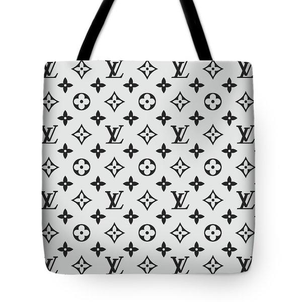 Louis Vuitton Pattern Lv 07 Grey Tote Bag