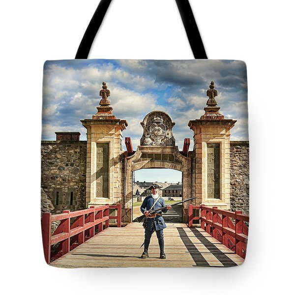 Louisbourg Fortress, Nova Scotia Tote Bag