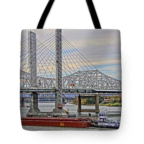 Louisville Bridges Tote Bag by Dennis Cox WorldViews