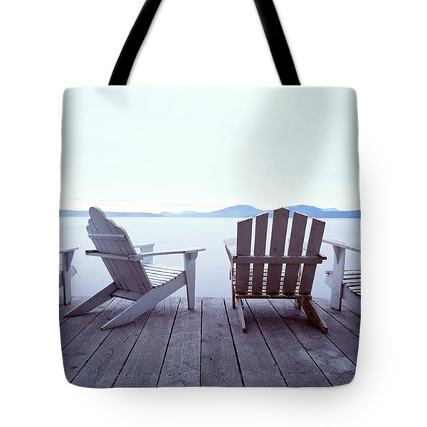 Lounge Chairs Moosehead Lake Me Tote Bag