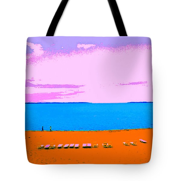 Lounge Chairs On The Beach Tote Bag