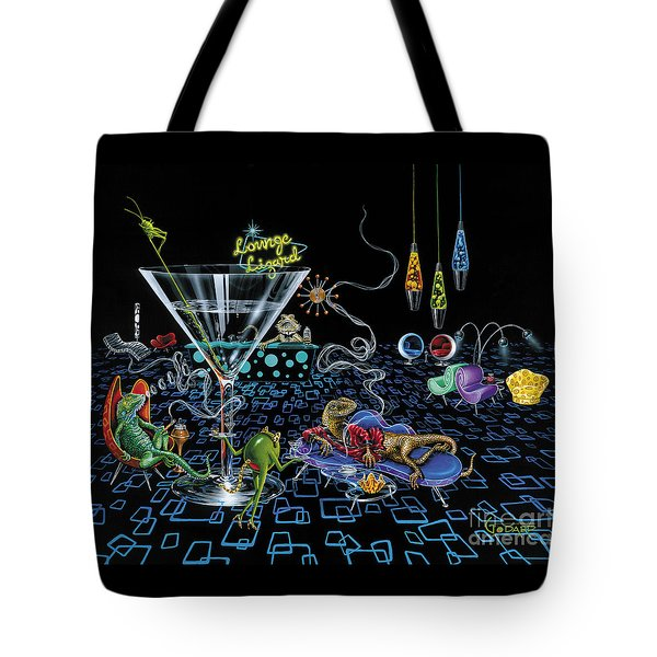 Lounge Lizard Tote Bag by Michael Godard
