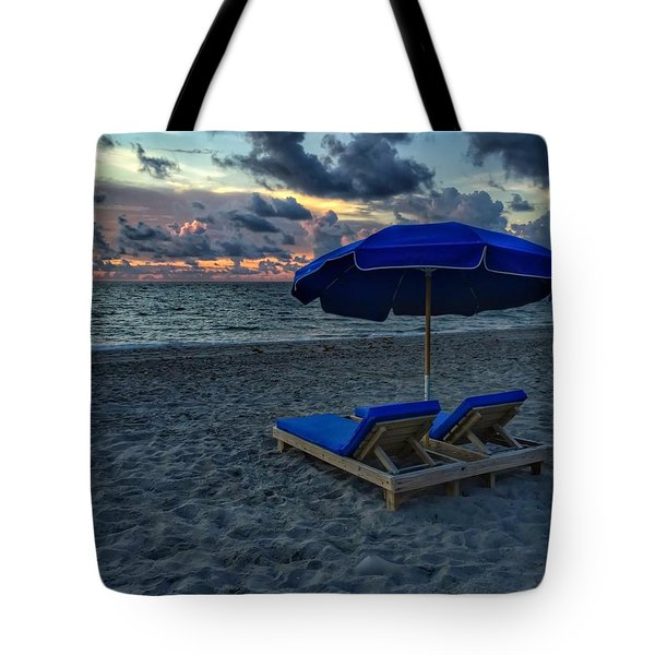Lounging By The Sea Tote Bag