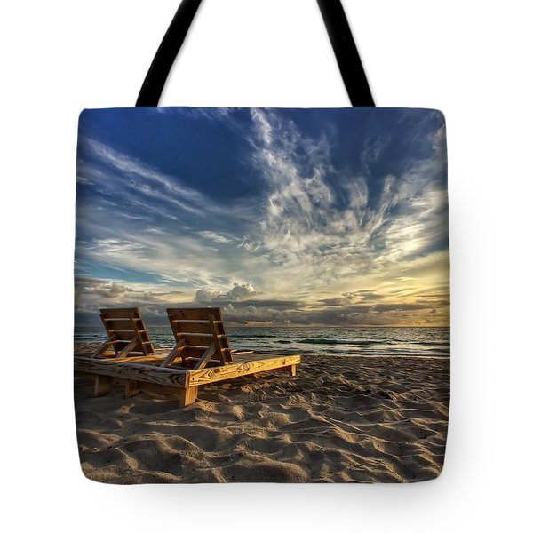 Lounging For 2 Tote Bag
