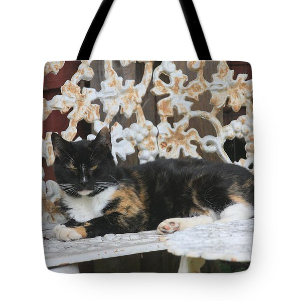Lounging Kitty Tote Bag