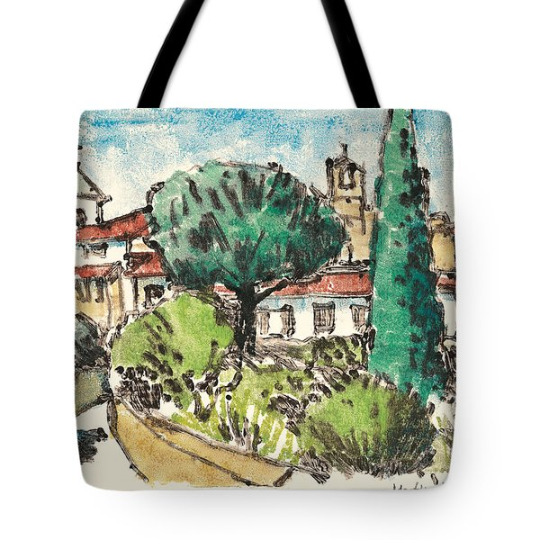 Tote Bag featuring the painting Lourmarin Provence by Martin Stankewitz