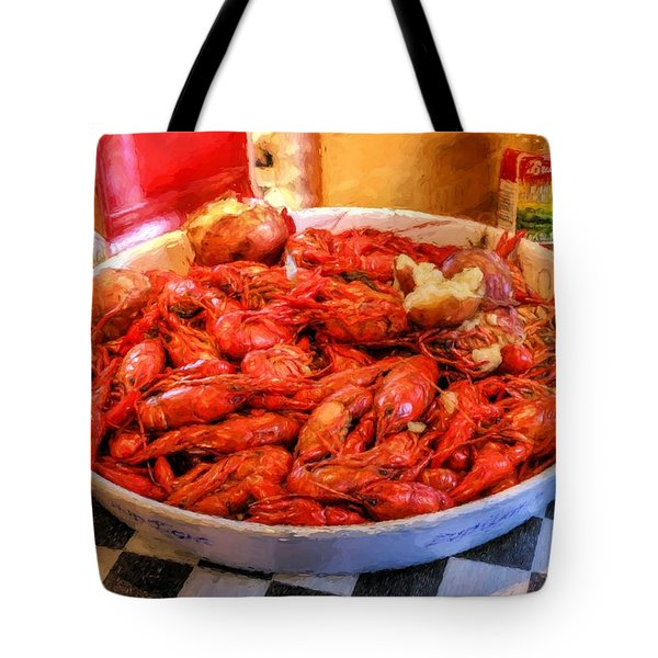 Tote Bag featuring the photograph Lousiana Seafood by JC Findley