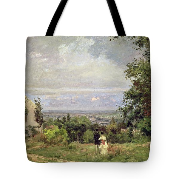 Louveciennes Tote Bag by Camille Pissarro
