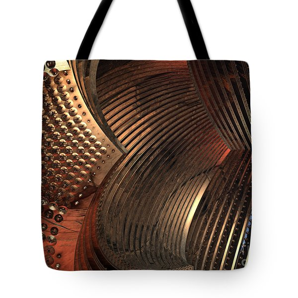 Tote Bag featuring the digital art Louvers by Melissa Messick