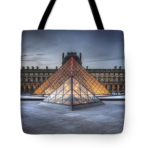 Louvre At Dusk Tote Bag