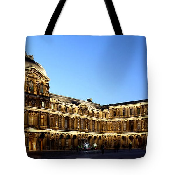 Tote Bag featuring the photograph Louvre At Night 1 by Andrew Fare