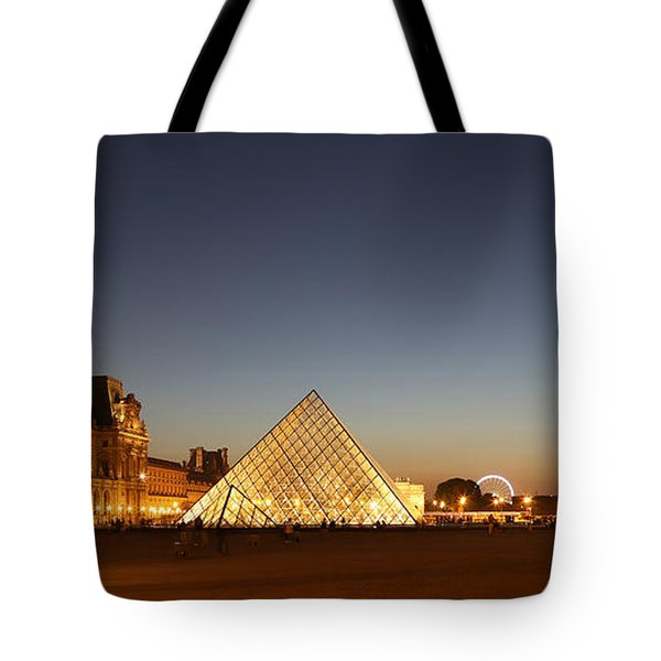 Tote Bag featuring the photograph Louvre At Night 2 by Andrew Fare