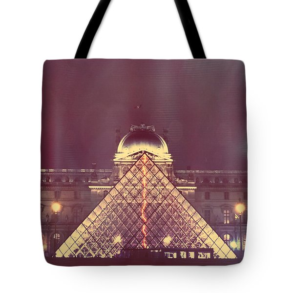 Louvre Palace And Pyramid Tote Bag