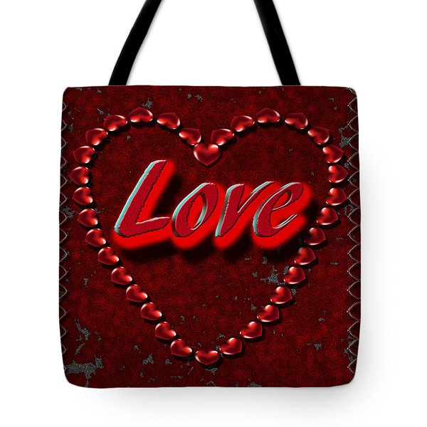 Tote Bag featuring the digital art Love 101 by Michelle Audas