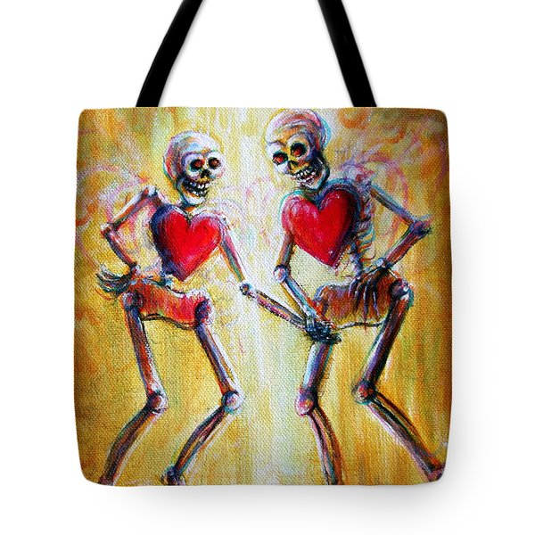 Tote Bag featuring the painting Love 2 Love by Heather Calderon