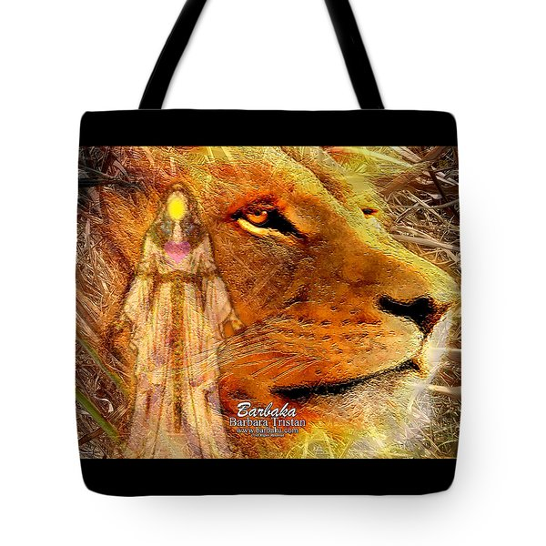 Tote Bag featuring the digital art Love 444 Cecil by Barbara Tristan