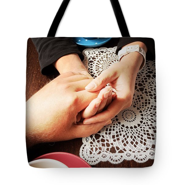 Love - A Couple Holding Hands Tote Bag