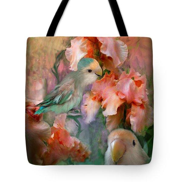 Love Among The Irises Tote Bag