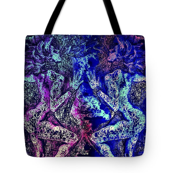 Tote Bag featuring the mixed media Love And Agony by Al Matra