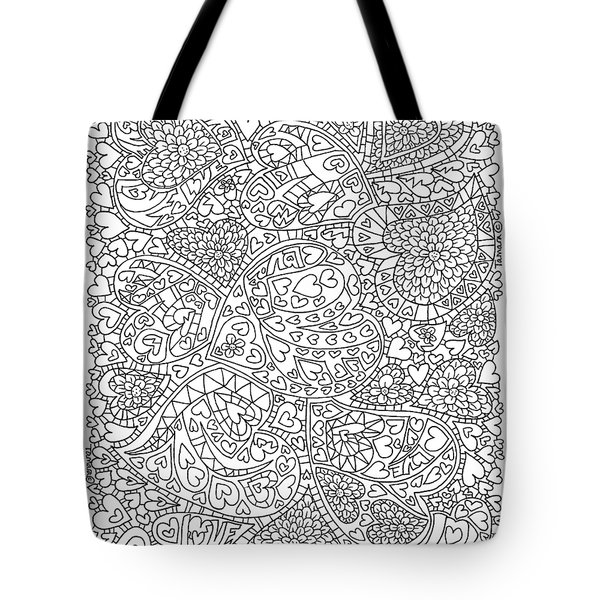 Love And Chrysanthemum Filled Hearts Vertical Tote Bag by Tamara Kulish
