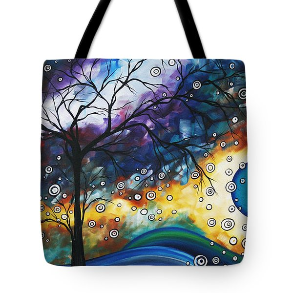 Love and Laughter by MADART Tote Bag by Megan Duncanson