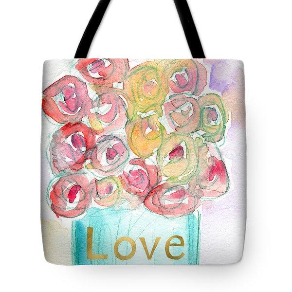 Love And Roses- Art By Linda Woods Tote Bag