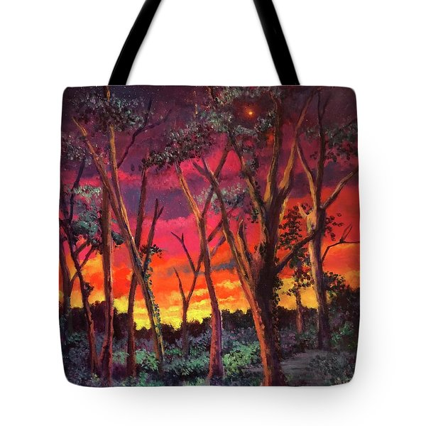 Love And The Evening Star Tote Bag