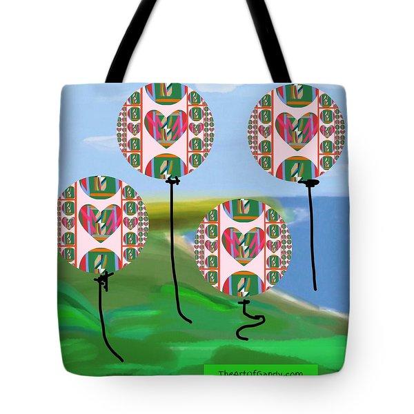 Love Balloons Protecting Guam Tote Bag