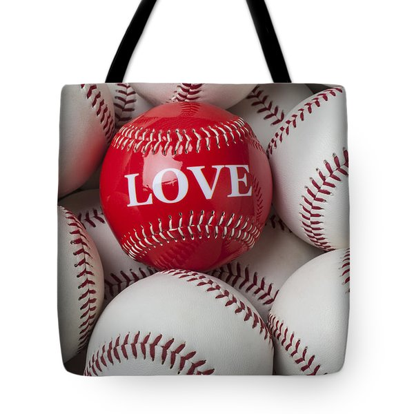 Love Baseball Tote Bag by Garry Gay