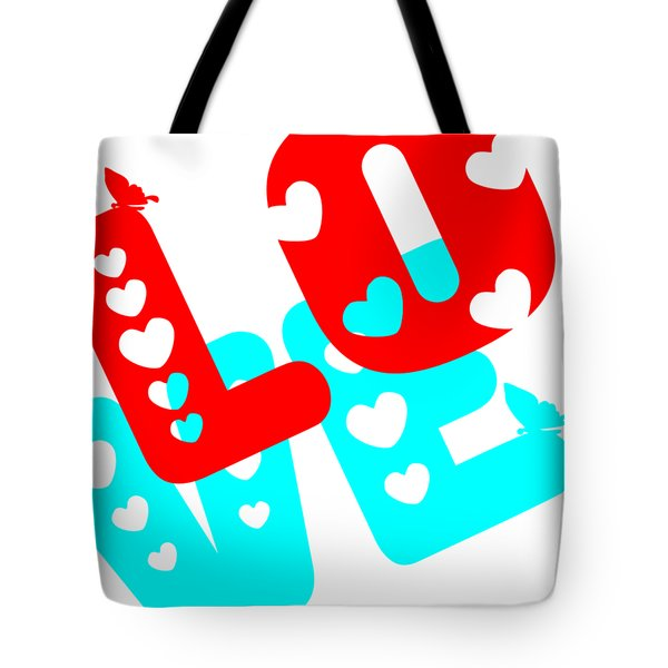 Tote Bag featuring the digital art Love by Bee-Bee Deigner