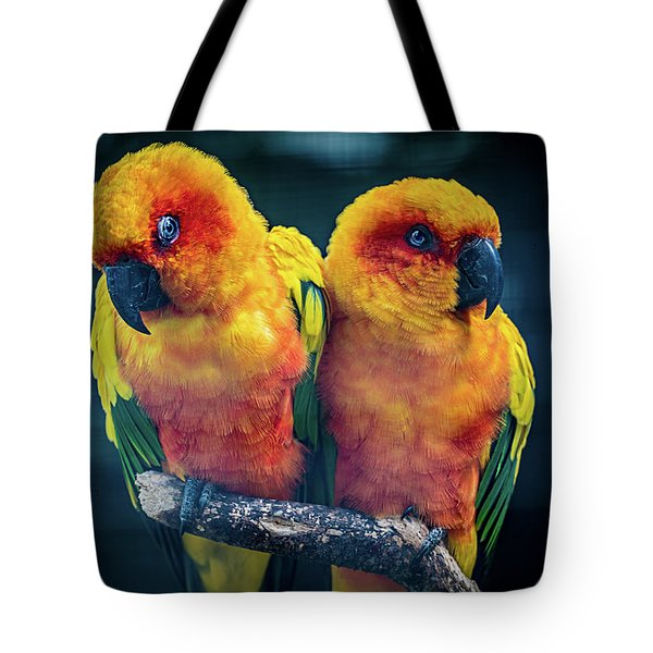 Tote Bag featuring the photograph Love Birds by Chris Lord