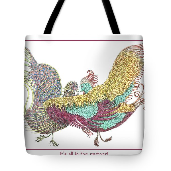 Love Birds Dancing Tote Bag