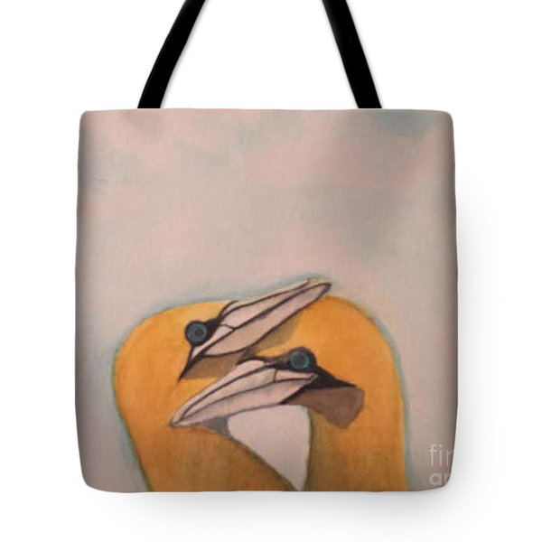 Tote Bag featuring the painting Love Birds by Elizabeth Coats