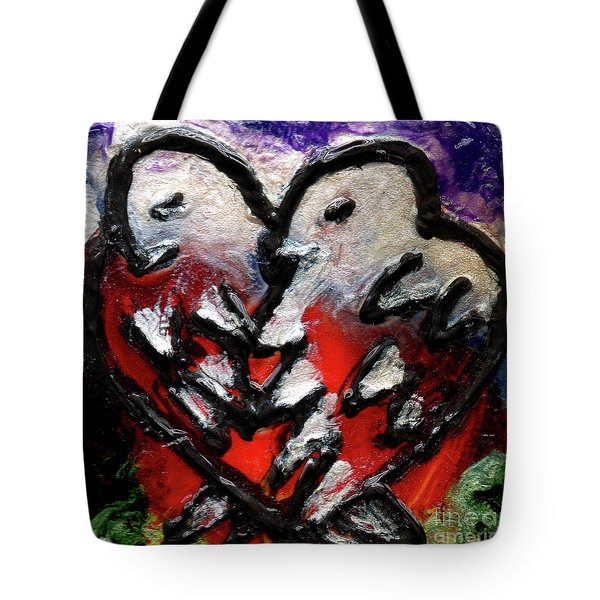 Tote Bag featuring the painting Love Birds by Genevieve Esson