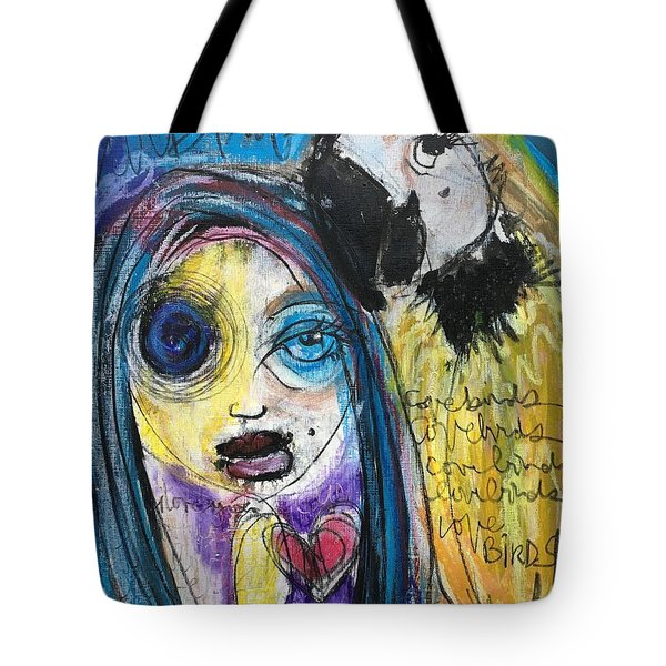 Love Birds Tote Bag by Laurie Maves ART