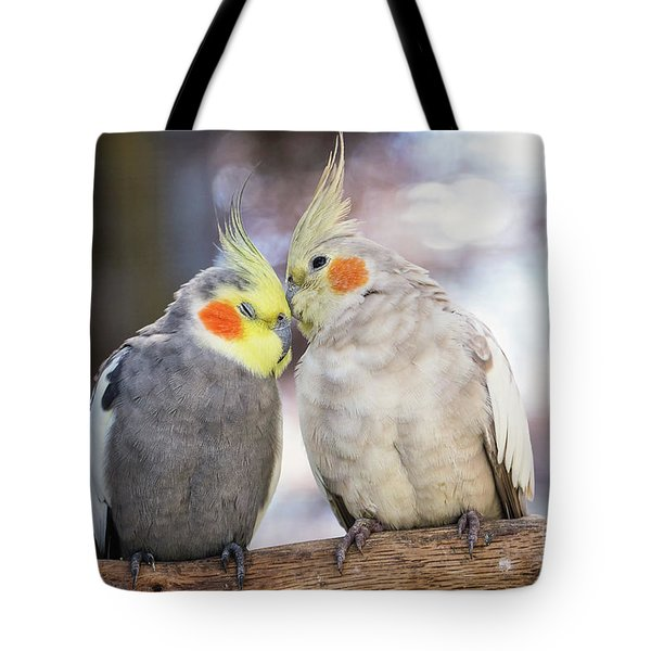 Love Birds Tote Bag by Stephanie Hayes